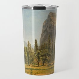 Albert Bierstadt - Bridal Veil Falls, Yosemite Valley, California (1872) Travel Mug
