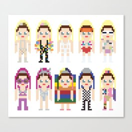 Miley Cyrus' 2015 VMAs Outfits Canvas Print