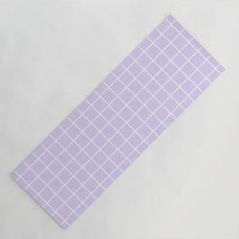 Lavender white minimalist grid pattern Yoga Mat