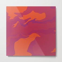 Abstract Desert Blues Pattern 41 Metal Print