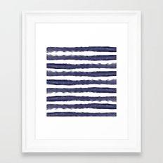 Blue- White- Stripe - Stripes - Marine - Maritime - Navy - Sea - Beach - Summer - Sailor 1 Framed Art Print