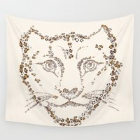 leopard Wall Tapestries featuring Leopard by CarmanPetite