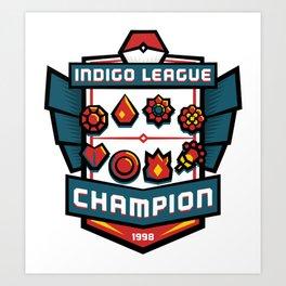 Indigo League Champion - Red Version Art Print