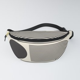 Abstraction_BLACK_LINE_DOT_POP_ART_Minimalism_004D Fanny Pack