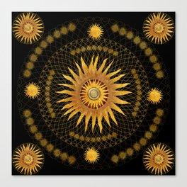 """Black & Gold Vault Mandala"" Canvas Print"