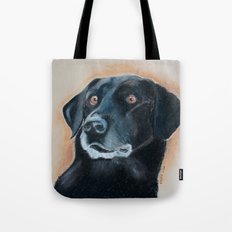 Nutter. A black lab Tote Bag