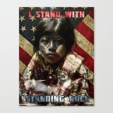 I Stand With Standing Rock Canvas Print