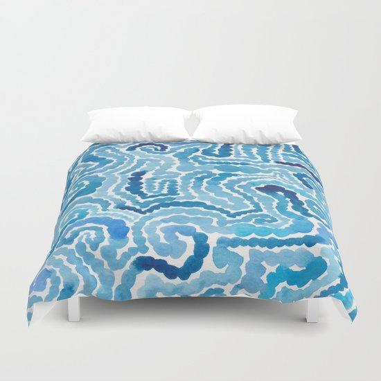 Blue Painting Duvet Cover