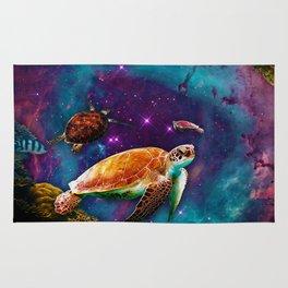 Turtles in Space Rug