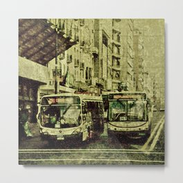 Montevideo Main Avenue Grunge Style Photo Metal Print