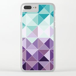 Triangles Clear iPhone Case