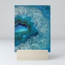 Teal Druzy Agate Quartz Mini Art Print