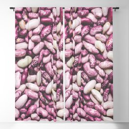 Shiny white and purple cool beans Blackout Curtain