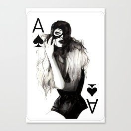 Ace of Spade Canvas Print
