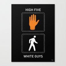 High Five White Guys Canvas Print