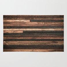 Vintage Wood Plank Rug