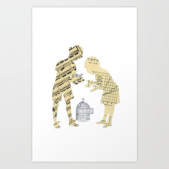 A strange world - Juan & Rodrigo Art Print