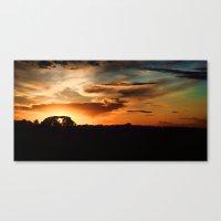 swedish Canvas Prints featuring Swedish sunset by Mark W