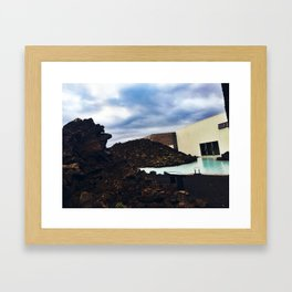 Lava Rocks at the Entrance to Iceland's Blue Lagoon (2) Framed Art Print