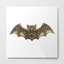 Mishkya the Baby Bat Metal Print