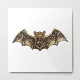 Mishkya the Baby Bat Metal Print