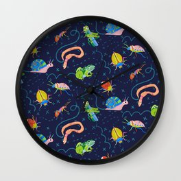 Bug Party Wall Clock