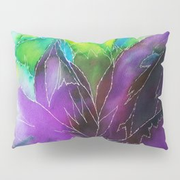 Purple Leaf Pillow Sham