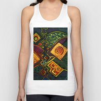sparkles Tank Tops featuring GALAXY SPARKLES by Deyana Deco
