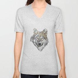 Wolf Head Illustration Unisex V-Neck