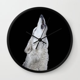 Howl of the wolf Wall Clock