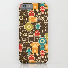 Robots on brown. iPhone 6 Slim Case