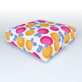 Pink and orange fruits Outdoor Floor Cushion