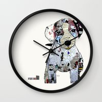 jack russell Wall Clocks featuring jack Russell (dogs  by bri.buckley