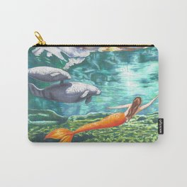 Swimming with Manatees Carry-All Pouch