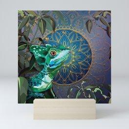 Basilisk Lizard Mini Art Print