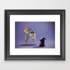 Using The Force Framed Art Print