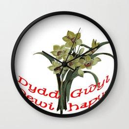 Dydd Gwyl Dewi Hapus Wall Clock