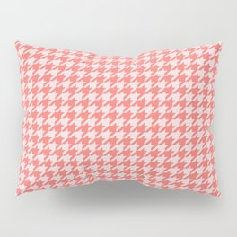 Coral Houndstooth Pillow Sham