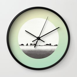 Mist Starts to Linger Wall Clock