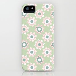 Pastel Daisies Allover Style Seamless Pattern iPhone Case