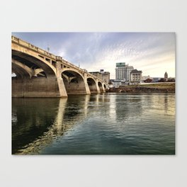 Market St. Reflections Canvas Print