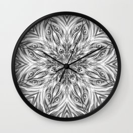 Gray Center Swirl Mandala Wall Clock