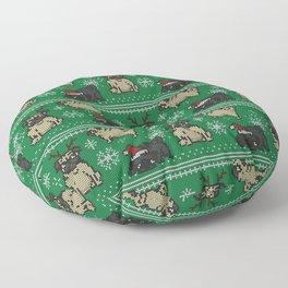 CHRISTMAS PUG Floor Pillow