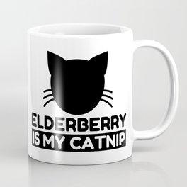 elderberry Lover Funny Cat Gifts Coffee Mug