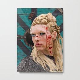 Lagatha Shield Maiden Painting Metal Print