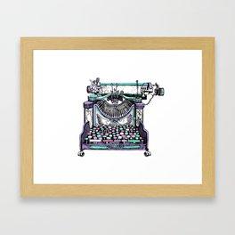 Magical Typewriter Framed Art Print
