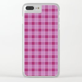 Checkered Squares Clear iPhone Case