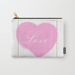 Gold Framed Love Carry-All Pouch