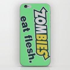 Zombie Eat flesh iPhone & iPod Skin