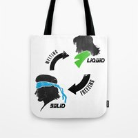 metal gear solid Tote Bags featuring Metal Gear: Solid Liquid States by Bendragon